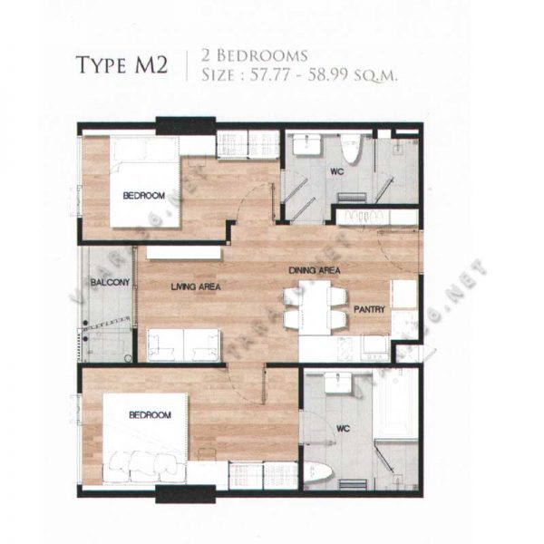 Vtara36-type-m2-2bedroom-vtara36-net