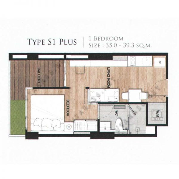 Vtara36-type-s1plus-1bedroom-vtara36-net